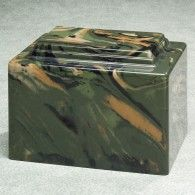 Camouflage Simulated Marble Urn