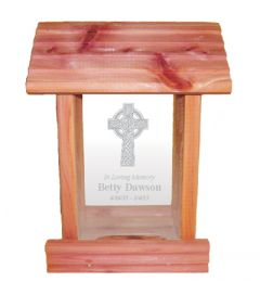 Celtic Cross Bird Feeder Memorial Gift
