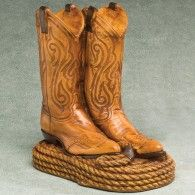 Cowboy Boots Large Adult Cremation Urn