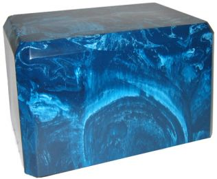 Caribbean Blue Cultured Marble Urn 2 Sizes