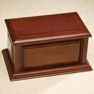 Cunningham Companion Cherry Wood Cremation Urn 410 Cubic Inches