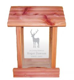 Deer Hunter Bird Feeder Memorial Gift