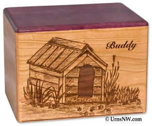 Cherry Dog House Pet Cremation Urn