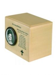 Always Photo Wood Urn Large Adult with Glossy Finish