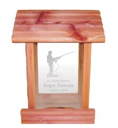 Fisherman Bird Feeder Memorial Gift
