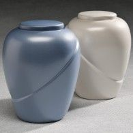 Glacial Blue Biodegradable Urn 200 Cu In  One left Only