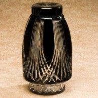 Gothic  Bohemian Glass Cremation Urn Adult     200 Cu In