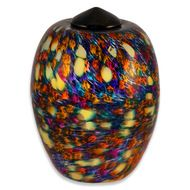 Hand Blown Glass Cremation Urn for Adults in Classic Desert