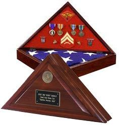 Heritage Military Flag Case With Medallion & Free Personalization