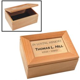 Personalized Maple Keepsake Box