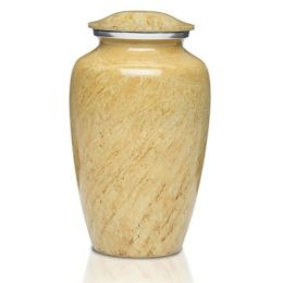 The Artisan Ivory metal Cremation Urns in 200 & 3 Cu. In.
