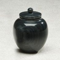Black Marble Keepsake Urn  6 Cu. In.