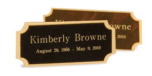 Metal Double Edge Large Name Plate