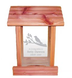 Bird On A Bird Feeder Memorial Gift
