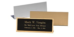 Free Standing Easel Name Plates That Stand Alone