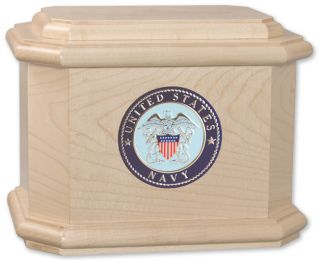Boxwood Military Cremation Urn  200 Cubic Inches