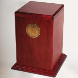 Arlington Military Cremation Urn In Purple Heart Wood 250 Cu. In.