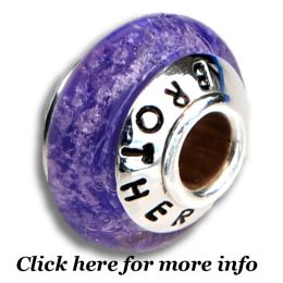 Lilac Cremation Bead