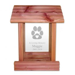 Personalized Pet Memorial Gift Birdfeeder