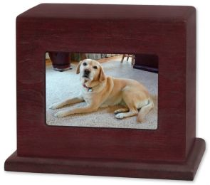 Rosewood Wooden Pet Cremation Photo Cremation Urn