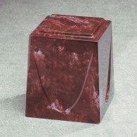 Saturn Simulated Marble  Merlot Cremation Urn