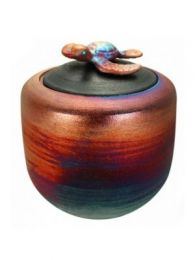 Turtle Raku Youth Urn