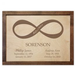 Infinity Symbol Companion Wall Mounted Cremation Urns