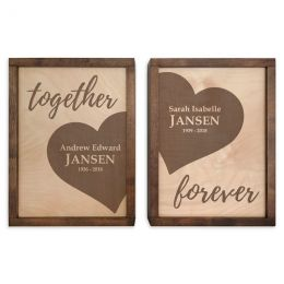 Together,Forever Wall Mounted Companion urns Set