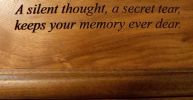 Dimensional Art Cremation Urns Inlay Wood Art Sailing Home Urn 230 Cu. In.