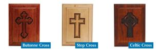 Willingham Cross Adult  In Mahogany  Wood Cremation Urn