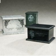 Black Square Evermore Cremation Urn 230 Cu In (Marble Urn Adult: Black)